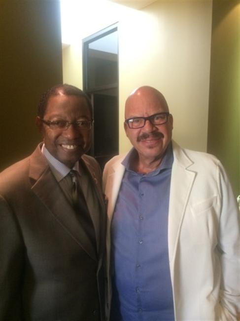 "Tom Joyner with Mayor Melvin ""Kip"" Holden of Baton Rouge"