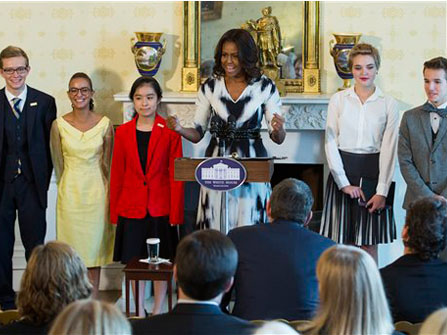 First Lady Introduces New Class Of Student Poets