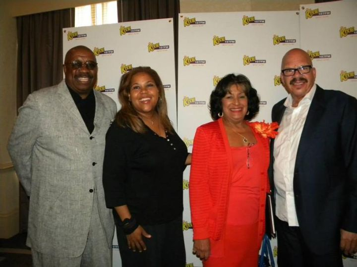Tom, Sybil and J. Anthony Brown with Jackson State University President Carolyn Meyers.