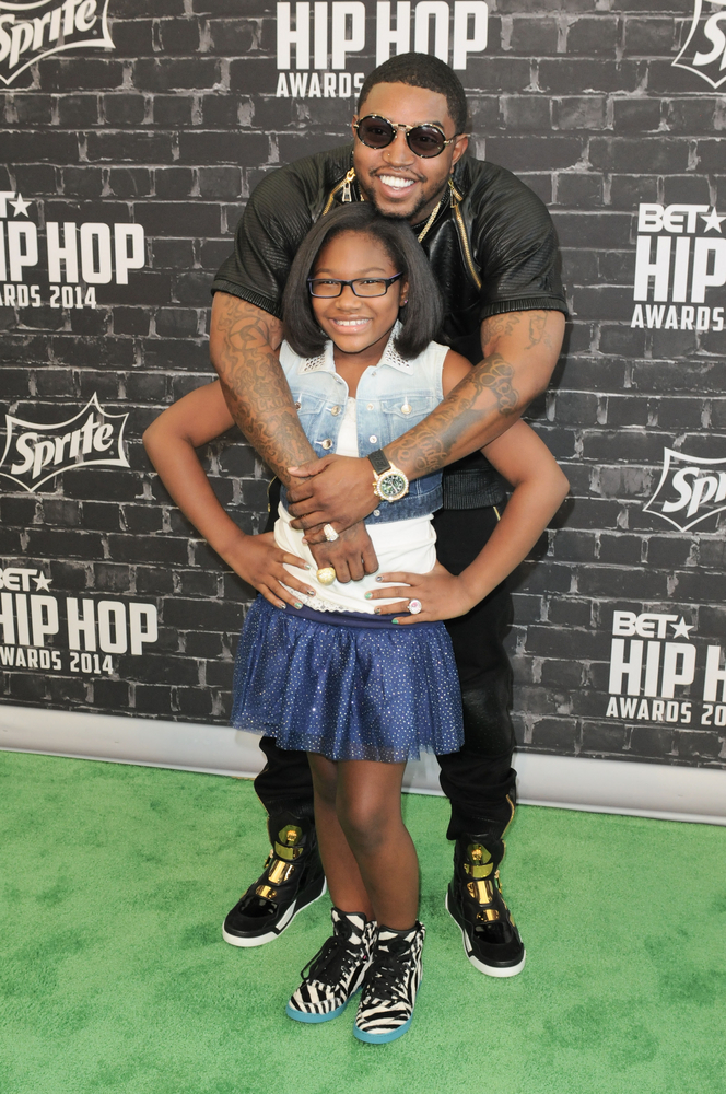 Scrappy and his daughter Emani