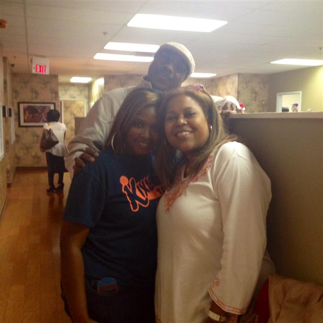 Sybil and J. Anthony Brown with a loyal listener in Jackson, MS.
