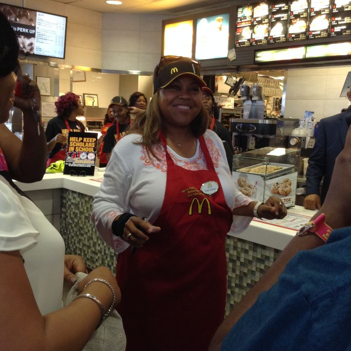 Sybil Wilkes at McDonald's in Jackson, MS.