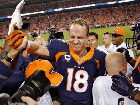 Peyton Manning Sets TD Record, Surpassing Favre
