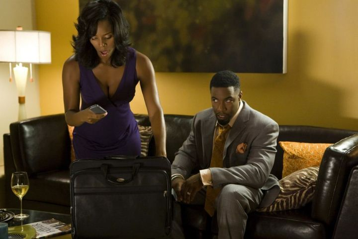 Tasha Smith and Michael Jai White