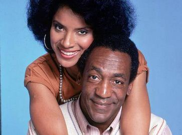 Cliff and Claire Huxtable in 'The Cosby Show'