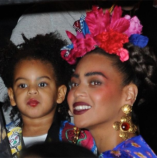 Beyonce as Frida Khalo and Blue as Baby Basquiat