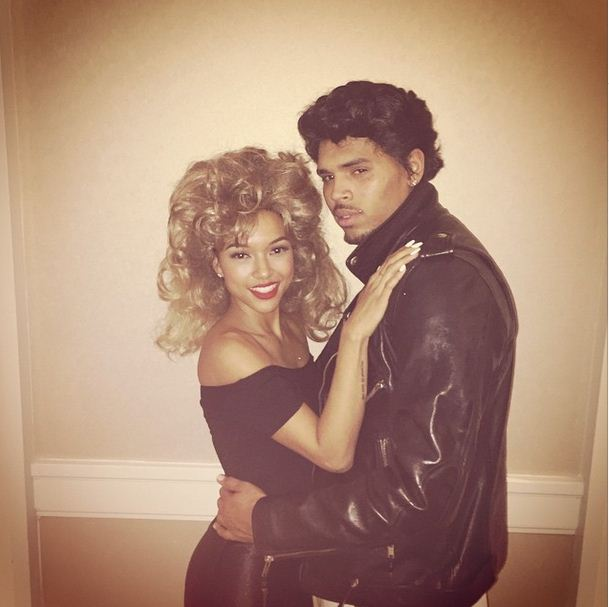 Chris Brown and Karrueche as Sandy and Danny from Grease