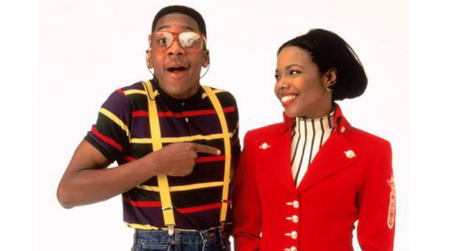 Laura Winslow and Steve Urkel