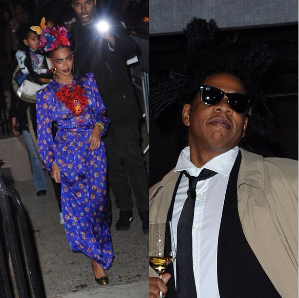 Beyonce and Jay Z as Frida Kahlo and Jean-Michel Basquiat