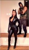 Ludacris and his girlfriend Eudoxie as Bain and Catwoman