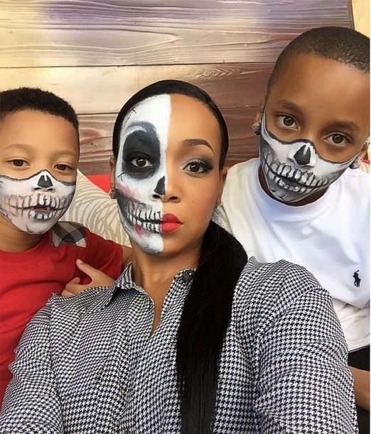 Monica and her boys in Horror Face