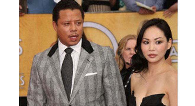 Terrence Howard and wife Mira