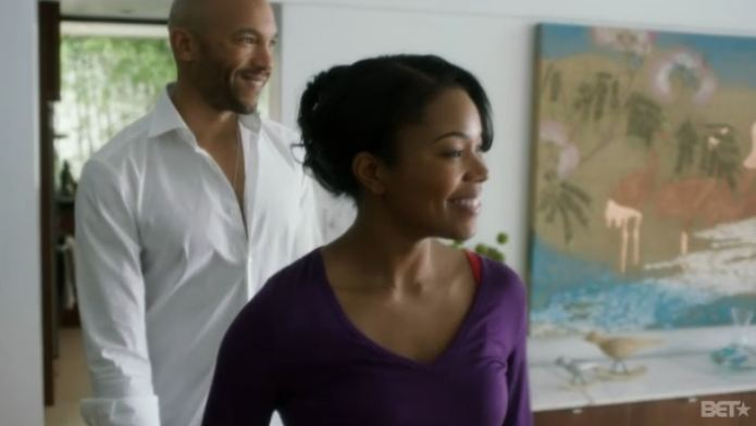 """Mary Jane and David work it out on """"Being Mary Jane""""."""