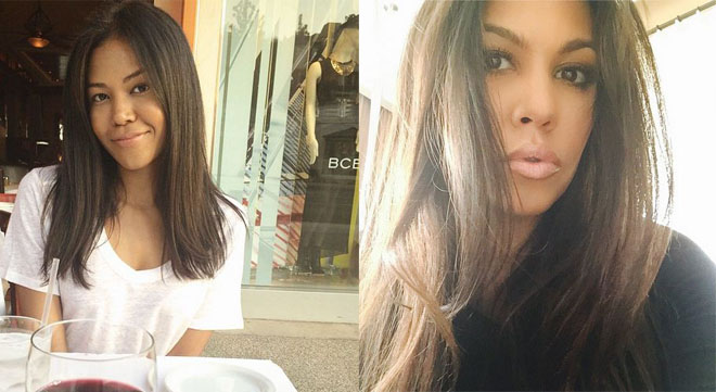 Ameriie and Kourtney Kardashian favor enough to be sisters