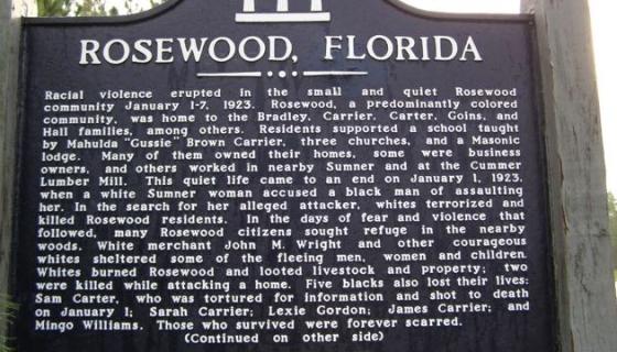 Little Known Black History Fact Rosewood Massacre Black