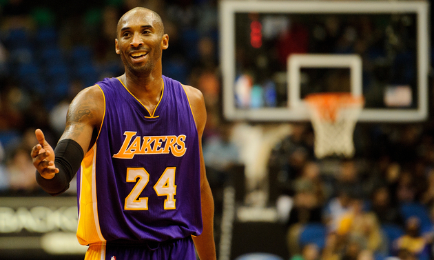 f94e6e90696b LOS ANGELES (AP) — One retired jersey number just isn t enough for Kobe  Bryant and the Los Angeles Lakers.