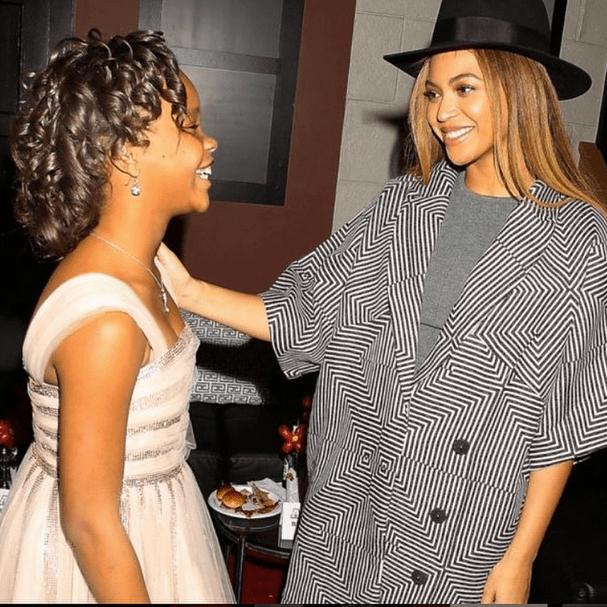 Beyoncé and Quvenzhané Wallis