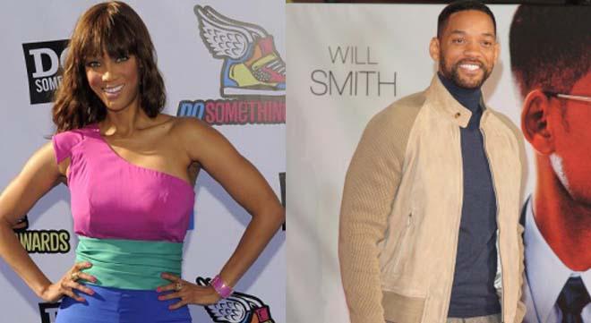 Tyra Banks and Will Smith