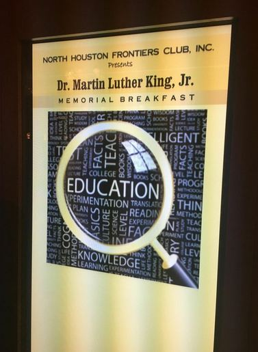 The North Houston Frontier's Club's Dr. Martin Luther King Jr.'s Memorial Breakfast.