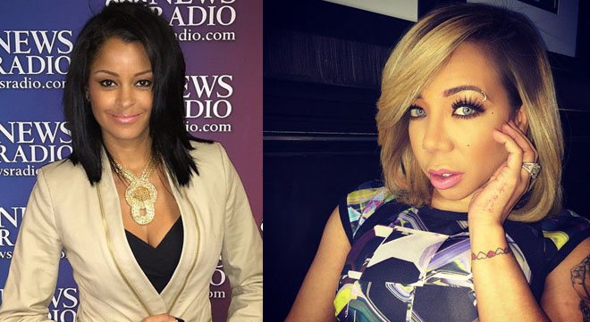 Tiny and Claudia Jordan: Claudia apologized on the radio for making fun of Tiny years ago. Tiny responded calling her a whore.