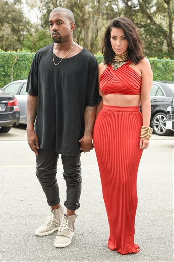 Kanye and Kim Kardashian West at the Pre-Greammy Roc Nation Brunch