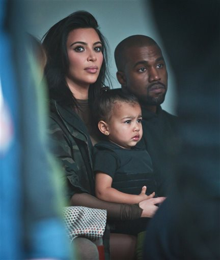 Kanye, Kim and North West