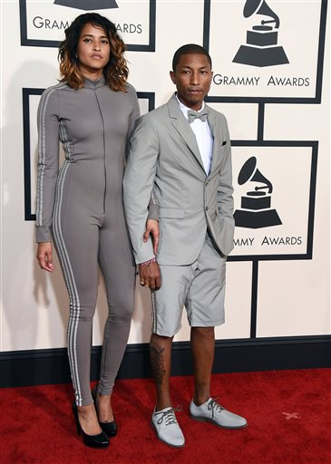 Pharrell and his wife Helen