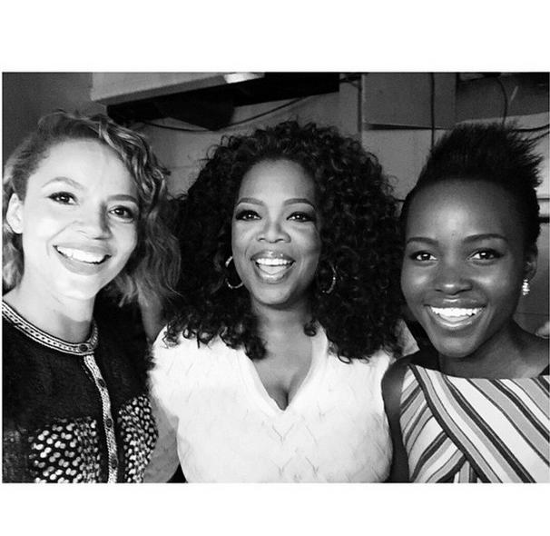 Carmen Ejogo, Oprah and Lupita Nyong'o