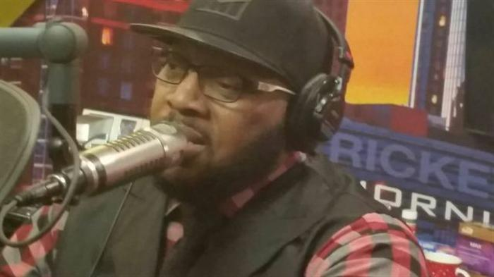 Marvin Sapp in studio with Willie Moore Jr.