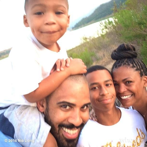 Nia Long, her fiancee and two kids