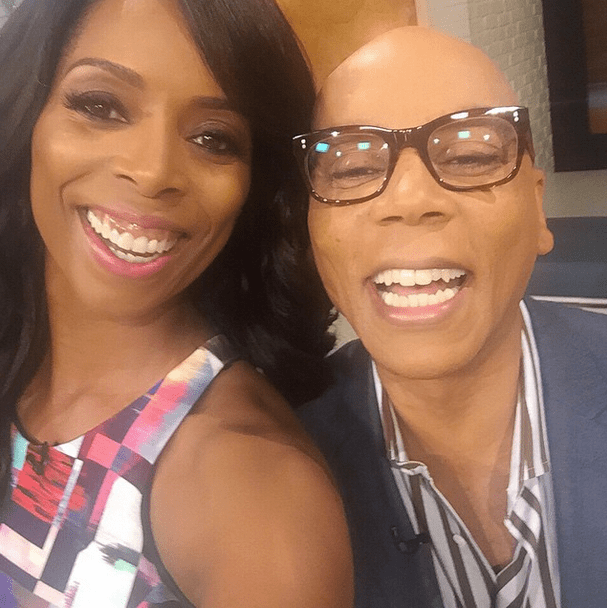 Tasha Smith and Ru Paul