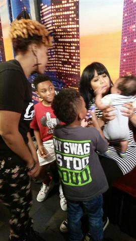 Erica Campbell with Willie's sons