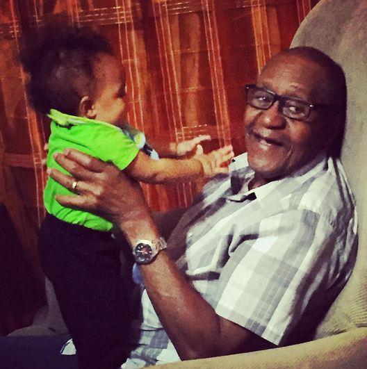 Willie's dad with baby Princeton