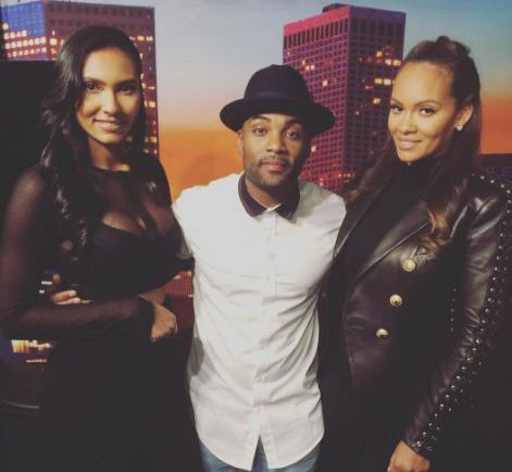Willie Moore with Evelyn Lozada and her daughter