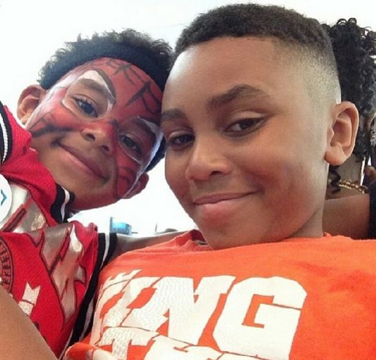 Another great photo of Khalil and Peyton!
