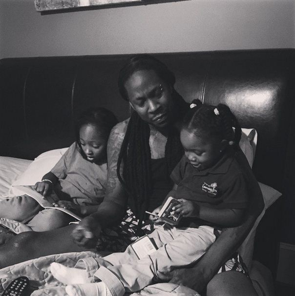 2 Chainz with his daughters
