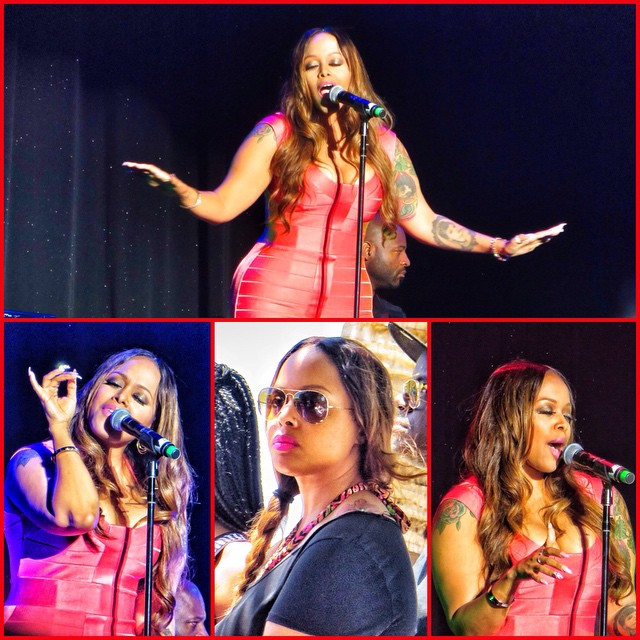 Chrisette Michele performs and relaxes.