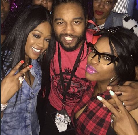 Trina with Lil'Mo and her husband