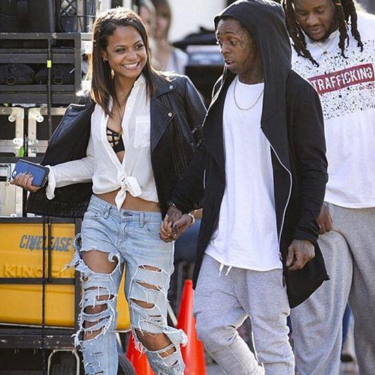 Lil Wayne and Christina Milian