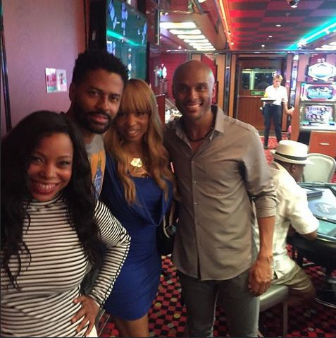 Reality stars Paula Jai Parker and Elise Neal hang out with Eric Benet and Kenny Lattimore.