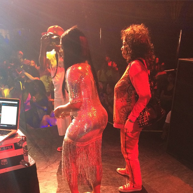 Millie Jackson and Trina perform together.