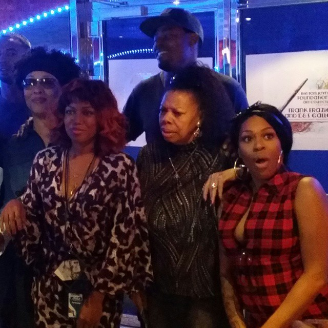 Lady of Rage, Millie Jackson, Lanman Rucker, Li'l Mo and Michel'le react to something onstage.