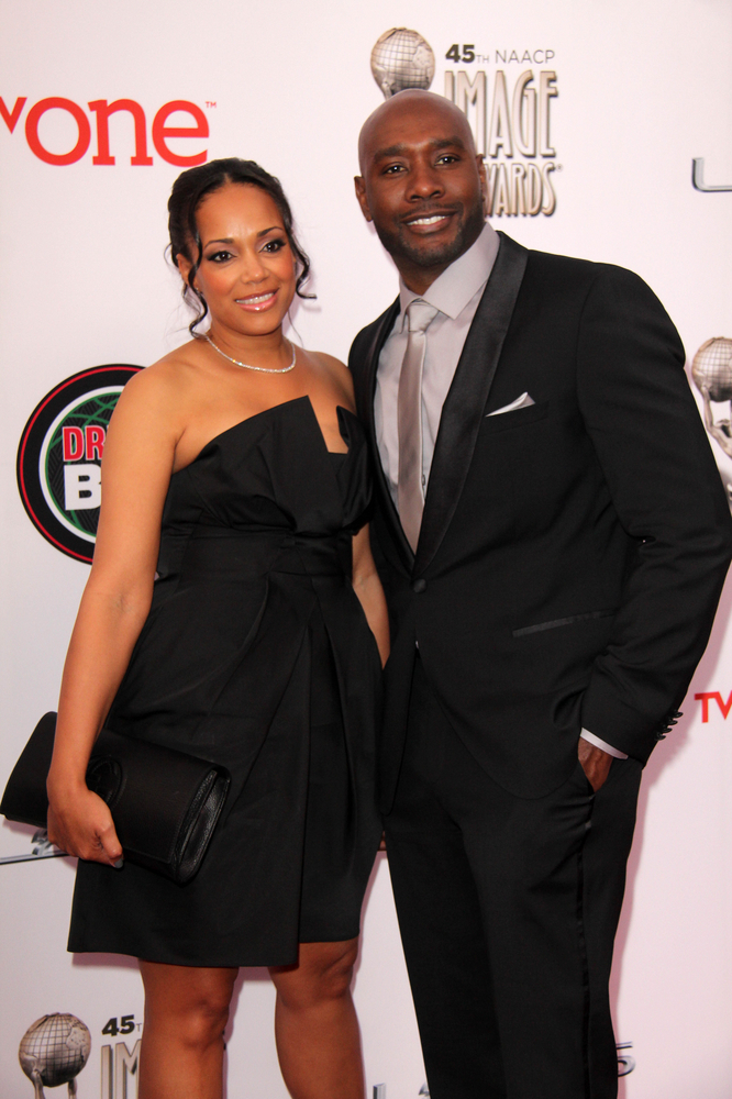 We saw a lot more of Morris Chestnut's wife, Pam.