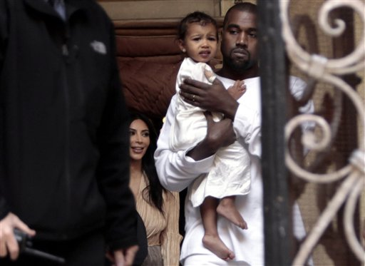 Kanye West has one daughter, North, with wife Kim Kardashian.