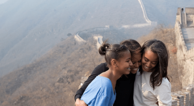 First Lady Michelle Obama is the mother of Malia and Sasha