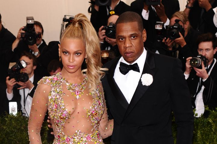 Another look at Beyonce and hubby Jay-Z looking stunning as usual.