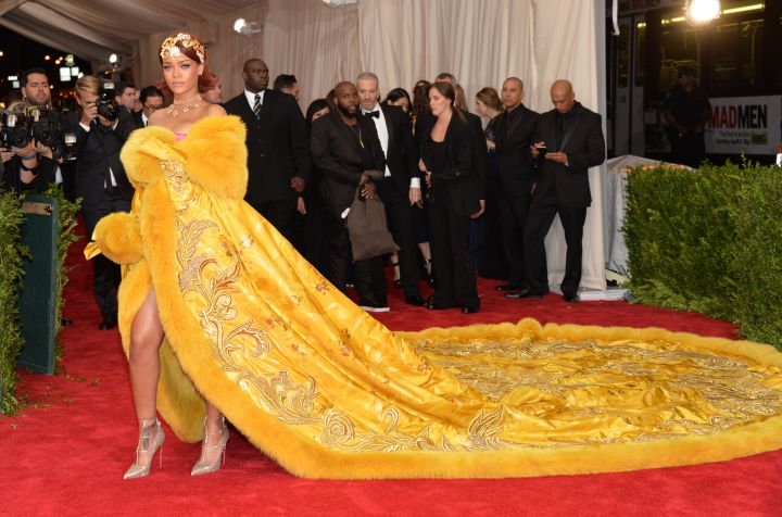 Rihanna doesn't play when it comes to her red carpet game.