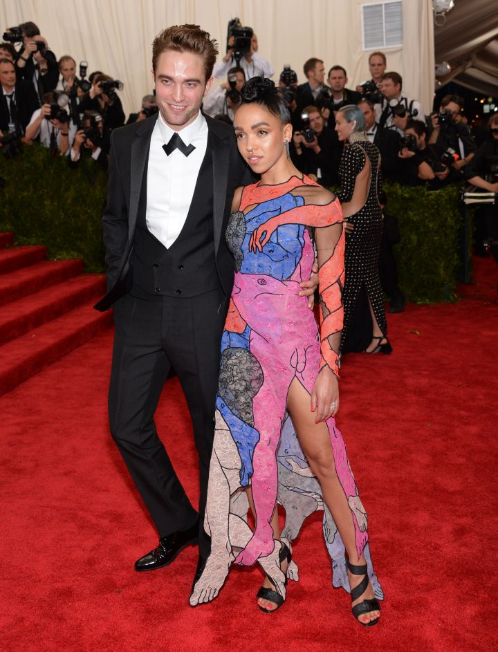 """Twilight's' Robert Pattison and his girlfriend, British rapper FKA Twigs."