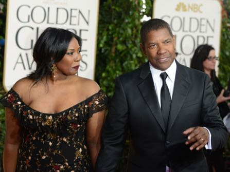 "FILE - In a Sunday Jan. 13, 2013 file photo, actor Denzel Washington, right, and his daughter Olivia Washington arrive at the 70th Annual Golden Globe Awards at the Beverly Hilton Hotel, in Beverly Hills, Calif. Olivia Washington, one of Denzel Washington's four children, has spent the spring od 2015 playing the shy and damaged Laura in a revival of Tennessee Williams' ""The Glass Menagerie"" in a 199-seat theater in New York. Unlike so many other aspiring actresses, she's not relying on her famous dad. (Photo by Jordan Strauss/Invision/AP, File)"