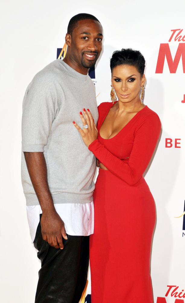 """06/09/2014 - Gilbert Arenas and Laura Govan - """"Think Like A Man Too"""" Hollywood Premiere - Arrivals - TCL Chinese Theater - Hollywood, CA, USA - Keywords: Orientation: Portrait Face Count: 1 - False - Photo Credit: Koi Sojer / PR Photos - Contact (1-866-551-7827) - Portrait Face Count: 1"""